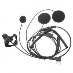 Walkie Talkie Hjälm Högtalare och Mikrofon Hörlurar System