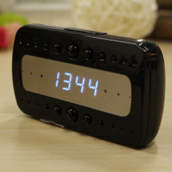 Wifi 1080P Night Vision Motion Detection Hidden Camera Alarm Clock Support Ipad Android phone and PC