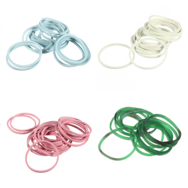 1000pcs Color Mix Elastic Hair Band Small Rubber Bands Hair Care & Salon