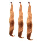 100PCS Light Auburn Straight Stick I-Tip Human Hair Pieces Extension Hair Care & Salon