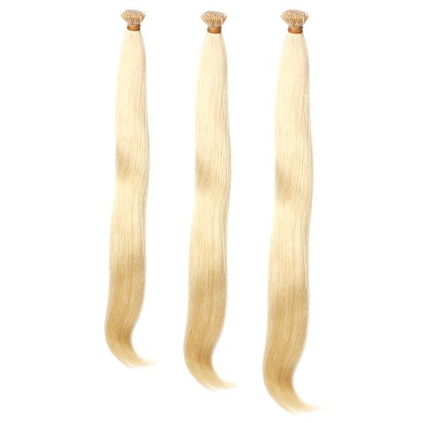 100stk hellblonde geraden Stock I Spitze Menschenhaar Stück Erweiterung Haarpflege & Salon