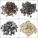 100 St Silikon Fjäder Hair Extension Verktygs Pärlor Micro Länk Ring Hårprodukter