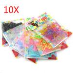 10 Bag TPU Bands Elastics Bobbles Rubber Hair Band