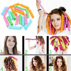 10Pcs 50cm Magic Hair Styling Spiral Curlers Rollers
