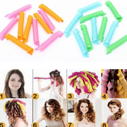 10Pcs 55cm Magic Hair Styling Spiral Curlers Rollers