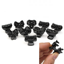 10pcs Mixed Style Black Plastic Hairpin Hair Clips Claws