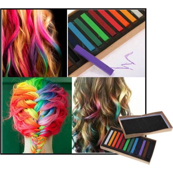 12 Colors Non-toxic Temporary Hair Color Chalk Square Hair Chalk Hair Care & Salon