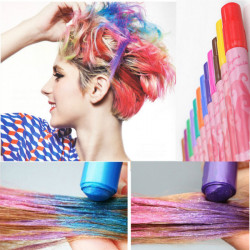 12 Farver Ikke-giftige Midlertidig Hår Farvelægning Crayon Pen