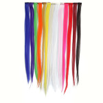 13 Popular Color Straight Hair Extension Piece With Clip Hair Care & Salon