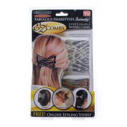 2pcs Dense Beads Comb Hair Disk Hair Clip Hair Accessories