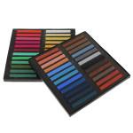 48 Farver Ikke-giftige Midlertidige Pastel Square Hår Kridt Hårpleje / Produkter