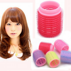 5 Pcs Pink Hair Curler Roller Salon DIY Hairdressing Styling Tool