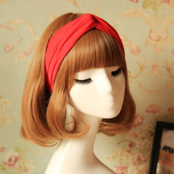 6 Farben elastischen Frauen Turban Twist Stirnband Sport Haar Band
