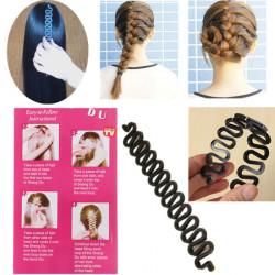 Svart Franska Hår Flätning Verktyg Roller Magi Hair Twist Styling
