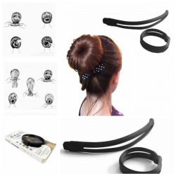 Schwarze Haarspange Haarnadel Elegante Magie Styling Werkzeuge Zubehör