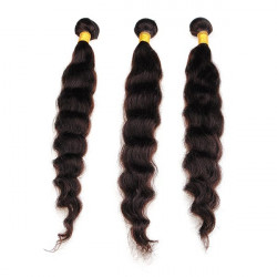 Brazilian Loose Wave Virgin Real Human Hair Piece Extension