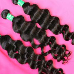 Brazilian Natural Wave Virgin Real Human Hair Piece Extension