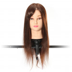 Brown 70 Percent Real Hair Cutting Training Mannequin Head Clamp Hair Care & Salon