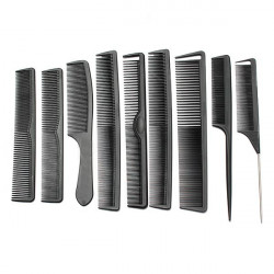 Carbon Fiber Hairdressing Antistatic Heat Resistant Hair Comb Set