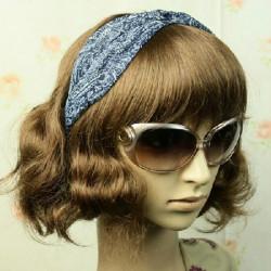 Chiffon Kink Headband Wide Fabric Elastic Hair Accessories