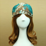 Kinesiska Unik Bläck Målning Stil Ljus Färg Chiffong Head Band Hårprodukter