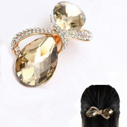 Crystal Rhinestone Bowknot Barrette Klip Headdress