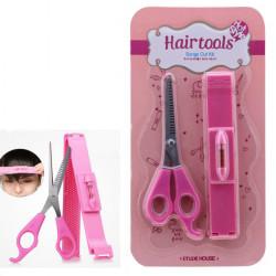 DIY Hair Tools Bangs Cut Kit Clip och Rosa Saxar