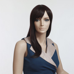 Dark Brown High Temperature Resistant Straight Wig