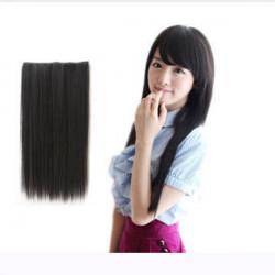 Arbeiten Sie Frauen lange Gerade Locken synthetische Klipp auf Haar Extensions