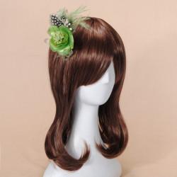 Feder Fascinator Brosche Haarspange Braut Blumen Kopfschmuck