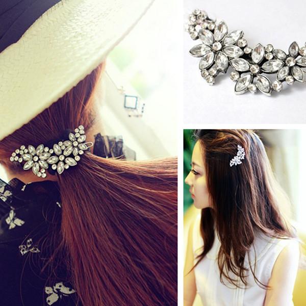 Blumen Legierung Haarschmuck Haarspange Strass Kristall Haarspange Haarpflege & Salon