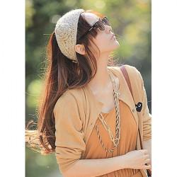 Flower Hand Knit Crochet Head Wrap Ear Warmer Headband Headwear