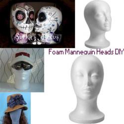 Schaum Mannequin Kopf Modell Perücke Hat Ständer anzeigen