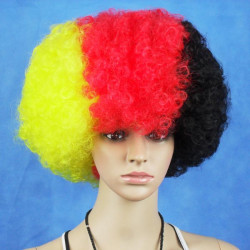 Germany National Flag World Cup Fans Synthetic Cosplay Party Wigs