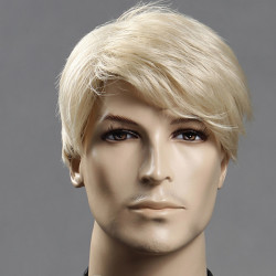 Golden Men Wig Business Side Short Straight Handsome Men