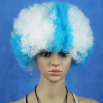 Greece National Flag World Cup Fans Synthetic Cosplay Party Wigs Hair Care & Salon