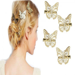 Hair Accessory Barrette Hollow Out Metal Hairpin Butterfly Hair Clip