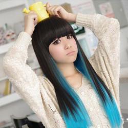 High-temperature Fiber Long Straight Hair Wig