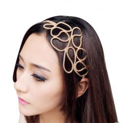 Hollow Flätad Pannband Golden Hair Band