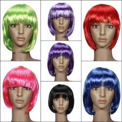 Damen Cosplay BOB Stil kurze glatte Haare Perücke