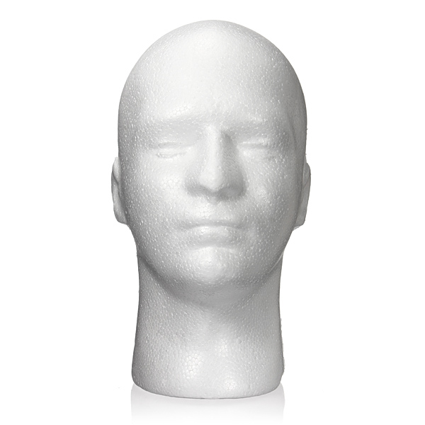 Male Styrofoam Foam Mannequin Stand Model Display Head Hair Care & Salon