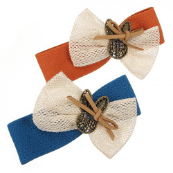New Fashion Beautiful Butterfly Fabric Women's Hairpins
