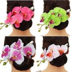 Orchid Haarnadel Blumen Haarclip Kopfschmuck Zubehör