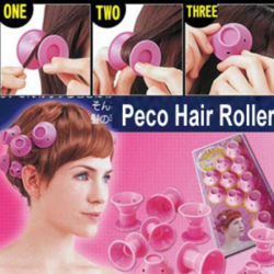 PECO Roll Hair Curlers Roller Soft Rubber DIY Cosmetic Tools