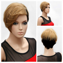Stern Art Frauen kurzes blondes Haar Perücke