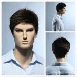 Stylish Brown Short Hair Wigs For Man Hair Care & Salon