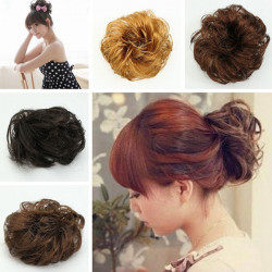 Synthetic Hair Scrunchie Hairpiece Updo Ponytail Holder