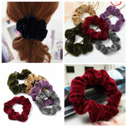 Velvet Elastic Rubber Hair Accessory Band Rope Ring