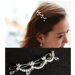 Vågform Rhinestone Crystal Hair Pin Styling