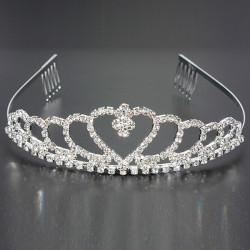 Hochzeits Braut Kristallrhinestones Heart shaped Kronen Haar Tiara